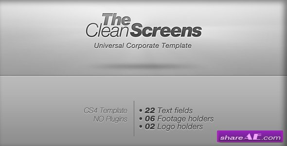 Clean Screens - After Effects Project (Videohive)