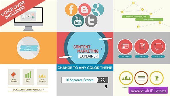 Content Marketing Explainer - After Effects Project (Videohive)