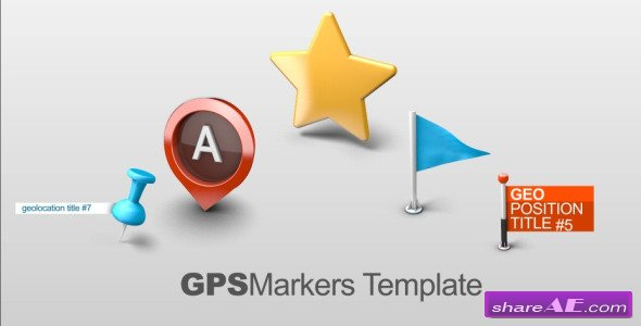 Map Markers - After Effect Project (Videohive)