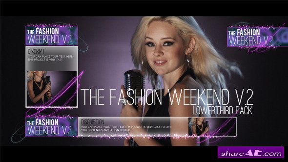 The Fashion Weekend V.2 lowerthird pack - After Effects Project (Videohive)