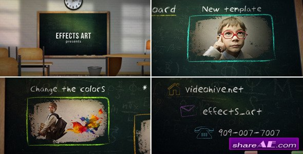 School Chalkboard v3 - After Effects Project (Videohive)