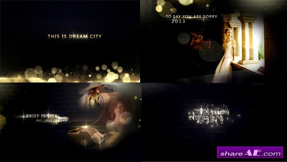 Gold Particles Photo And Postcard Opener - After Effects Project (Videohive)