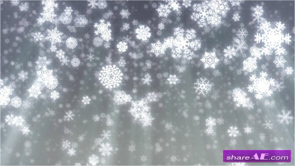 Christmas snowflakes falling on grey background - Stock Footage (iStock Video)