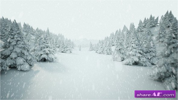 Winder landscape with falling snow - Stock Footage (iStock Video)