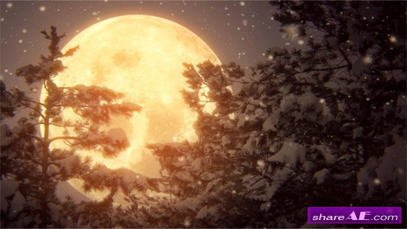 Full Moon And Snow - Stock Footage (iStock Video)