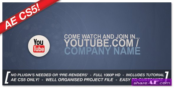 Corporate Social Network Ident - After Effects Project (VideoHive)