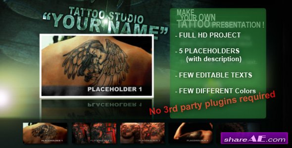 Tattoo Studio - After Effects project (Videohive)