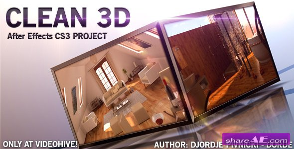 CLEAN 3D - After Effects project (Videohive)