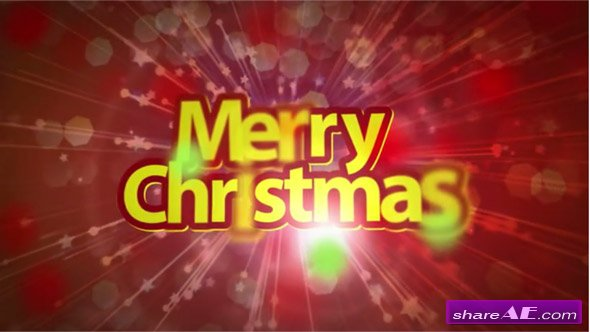 Merry Christmas Happy New Year - After Effects Project