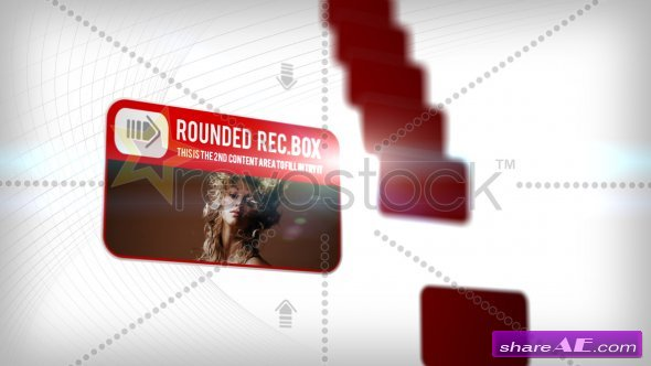 Rounded Rectangle Boxes - After Effects Project (Revostock)