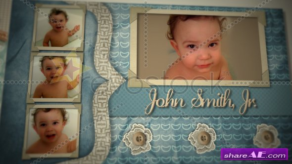 Baby Boy Scrapbook - After Effects Project (Revostock)