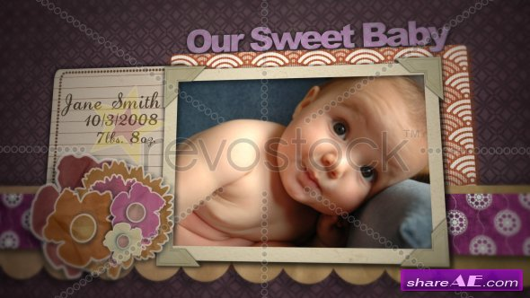 Baby Girl Scrapbook - After Effects Project (Revostock)