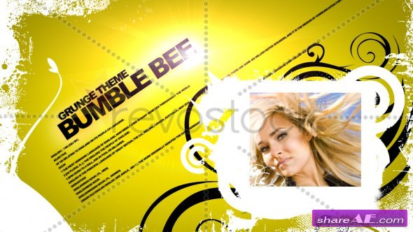 Bumble Bee Grunge Theme - After Effects Project (Revostock)