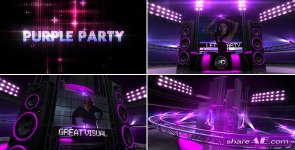 Purple Party - After Effects Project (Videohive)