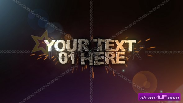 3D TEXT SHATTER - After Effects Project (Revostock) » Free After ...