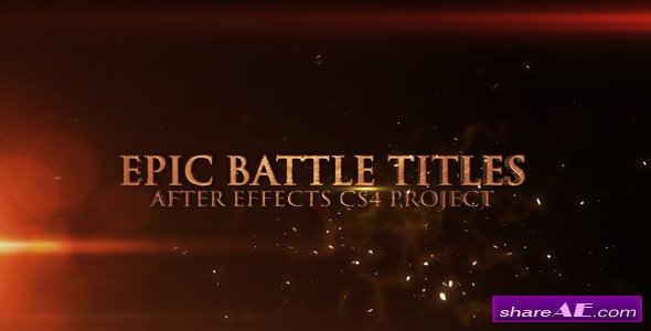 Epic Battle Titles - After Effects Project (Videohive)