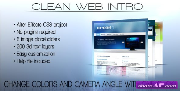 Clean Web Intro - After Effects Project (Videohive)