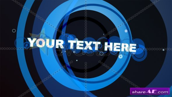 Blue Rings With Text - After Effects Project (Revostock)