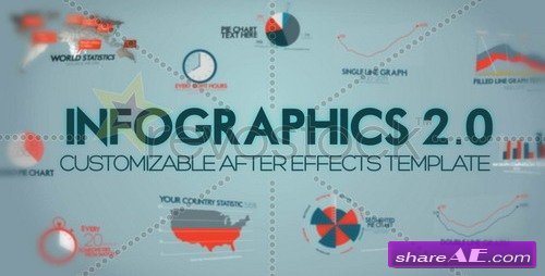 Infographics Version 2 - After Effects Project (Revostock)