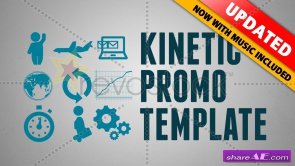 KINETIC PROMO - After Effects Project (Revostock)