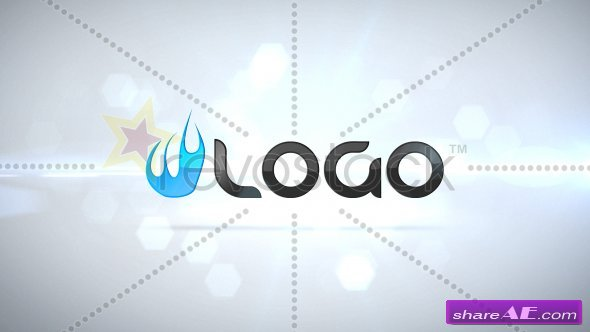 Clean Particle Logo Intro - After Effects Project (Revostock