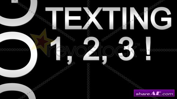 Texting Text 1,2,3! - After Effects Project (Revostock)