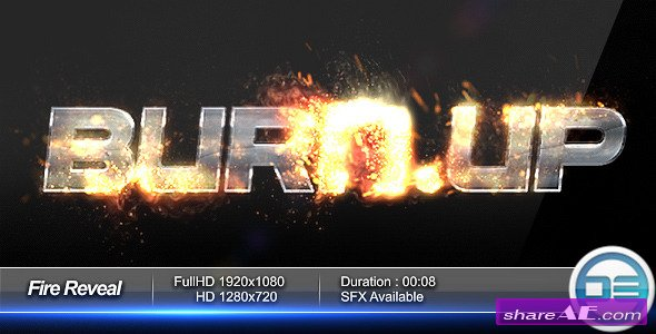 Fire Reveal - After Effects Project (Videohive) » free after