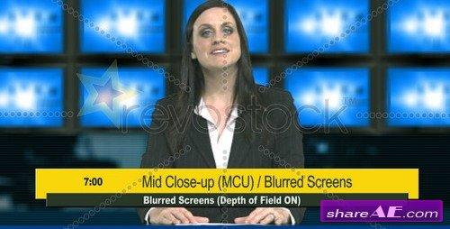 Virtual Studio-II (Multi-Screens) - After Effects Project (Revostock)