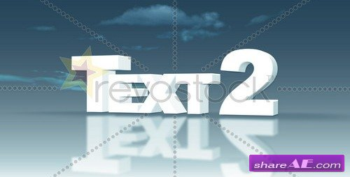 White Extruded Text - After Effects Project (Revostock) » Free ...