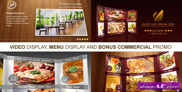 new restaurant presentation  after effects project videohive, Templates