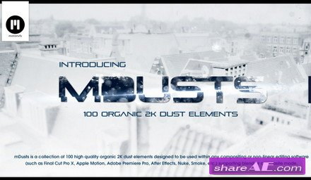 motionVFX - mDusts: 100 Organic Dust Elements