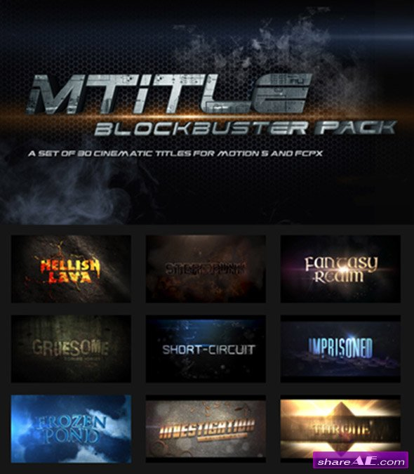 motionVFX - mTitle Blockbuster Pack For Apple Motion 5 and Final Cut Pro X