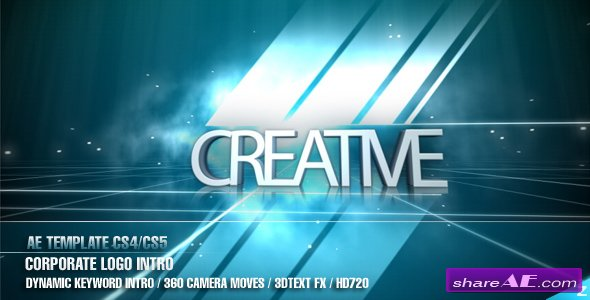 Ae Cs4 Corporate Logo Intro After Effects Project Videohive Free Template