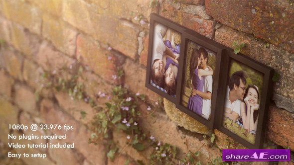 Photo Frame for Three Romantic Pictures - After Effects Project (Videohive)
