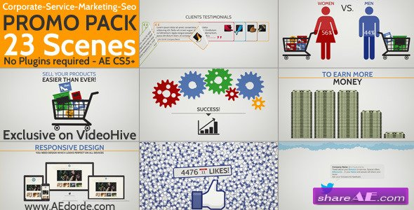 Videohive Digital Agency Promotion - Flat Design Concepts ...