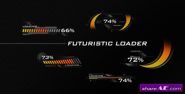 Futuristic Loading Screen - After Effects Project (Videohive)