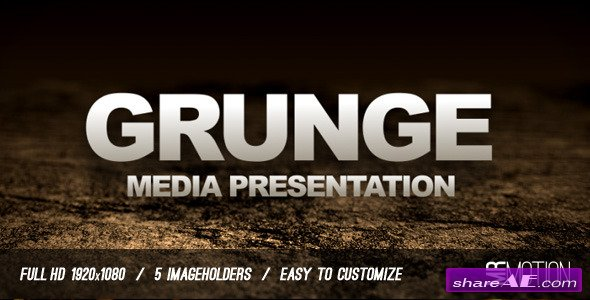 Grunge Media Presentation - After Effects Project (Videohive)