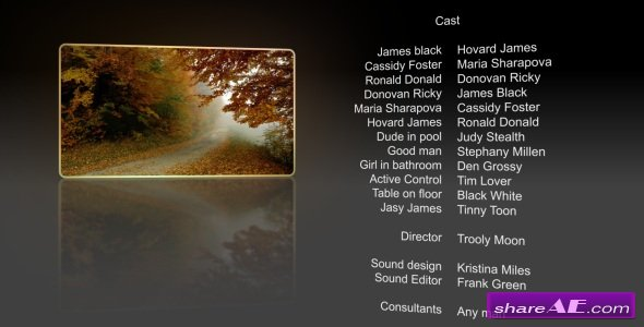 Film Credits - After Effects Project (Videohive)