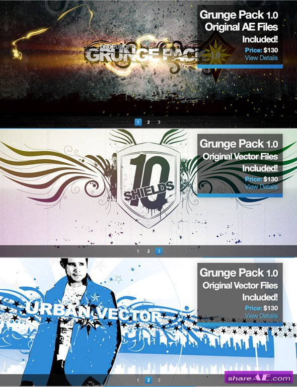 Grunge Pack 1.0 - After Effects Project And Motion Graphic (DropDrop)