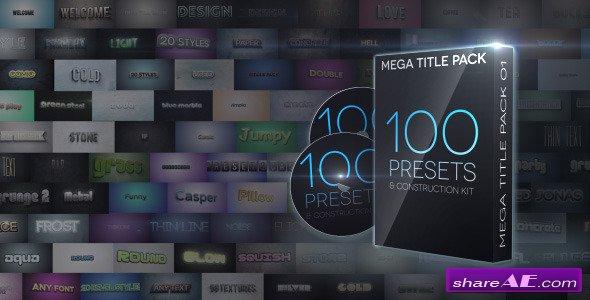 Mega Title Pack 01 100 In 1 Construction Kit