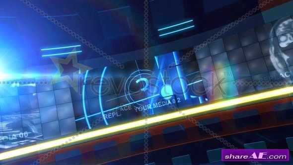 RADIAL SCREEN - After Effects Project (Revostock)