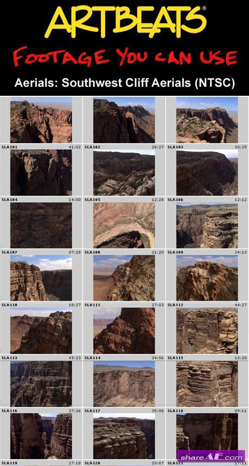 Artbeats - Aerials: Southwest Cliff Aerials (NTSC)
