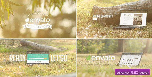 Promo Web/Theme/Service In Laptop - After Effects Project (Videohive)