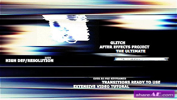 The Ultimate Glitch + 70 Presets Pack - After Effects Presets / Plugins (Videohive)