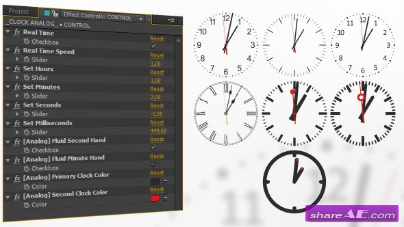 Analog Watch Clock System - After Effects Project (Videohive)