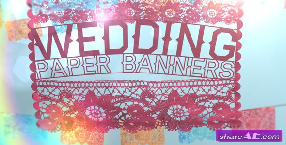 Wedding Paper Banners - After Effects Project (Videohive)