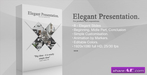 elegant presentation - after effects project (videohive) » free, Presentation templates