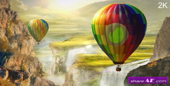 Colourful World - Hot Air Balloon Logo - After Effects Project (Videohive)