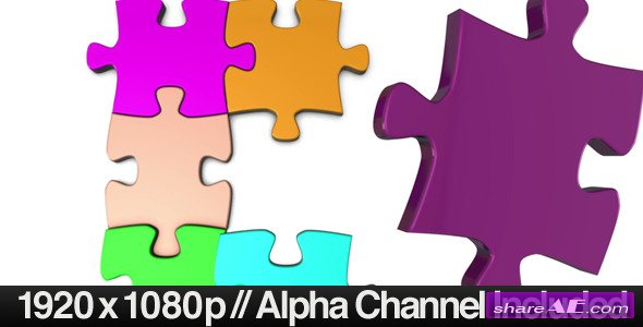 Colorful Jigsaw Puzzle Coming Together - Motion Graphic (Videohive)