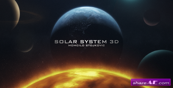 Earth 3D and Solar System - After Effects Project (Videohive)